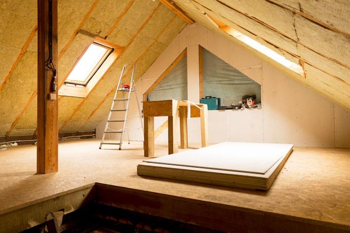Geluidsisolatie voor het plafond of dak
