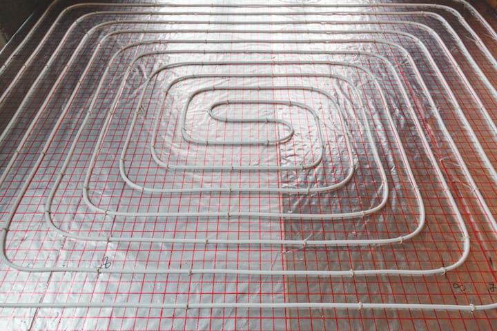 Vloerisolatie in combinatie met vloerverwarming